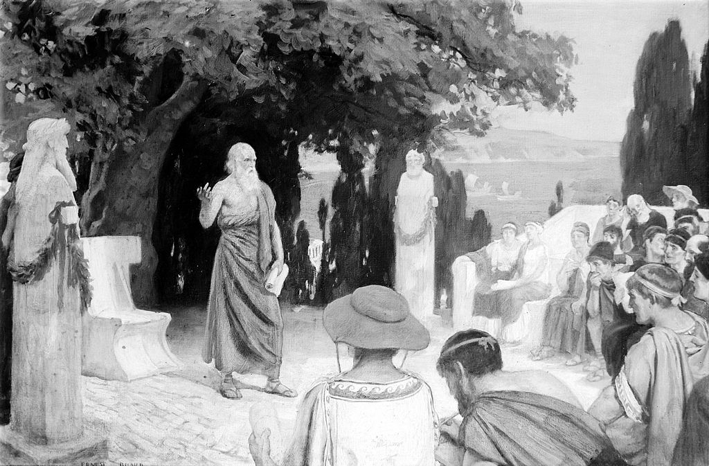 Hippocrates_lecturing_to_his_students_under_the_plane_tree_Wellcome_M0000138